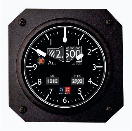 Relógio de mesa/parede - Altímetro Aviões e Músicas