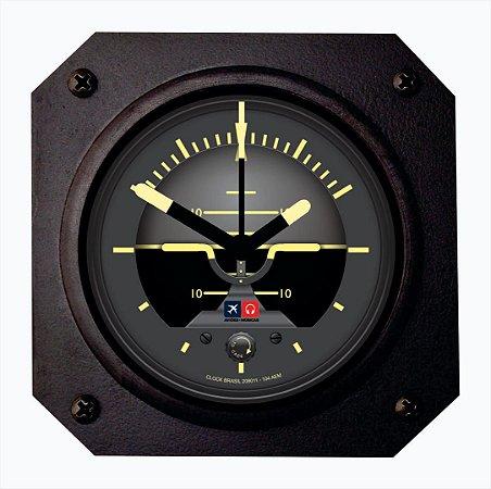 Relógio de mesa/parede - Horizonte Artificial Aviões e Músicas