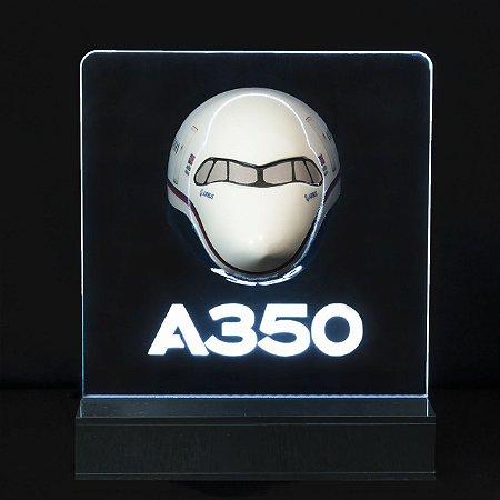 Maquete Seção Frontal AIRBUS A350 com iluminação - Aviões e Músicas