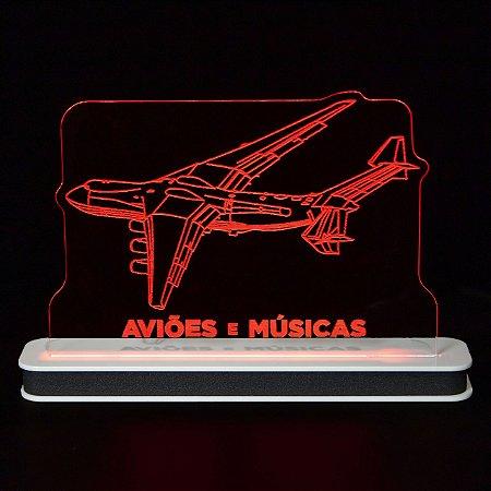 Luminária Antonov AN225 Aviões e Músicas
