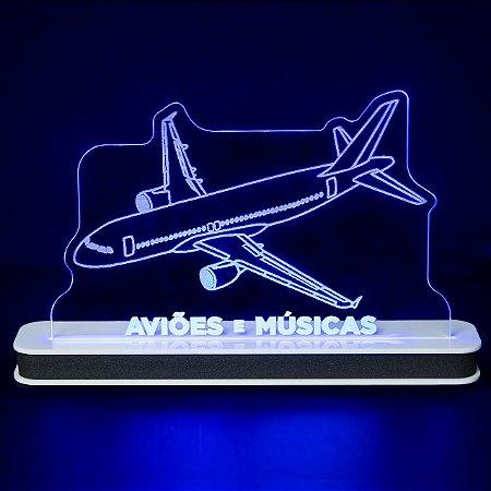 Luminária Airbus A320 Aviões e Músicas