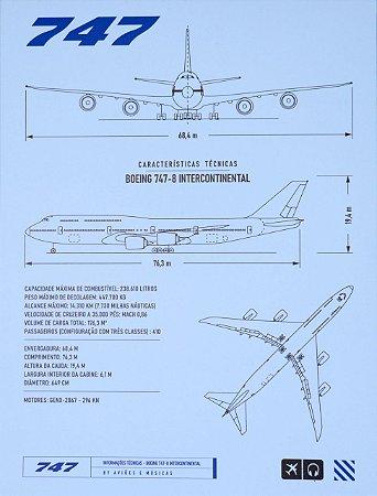 Pôster 747 Em PS 2mm Aviões e Músicas