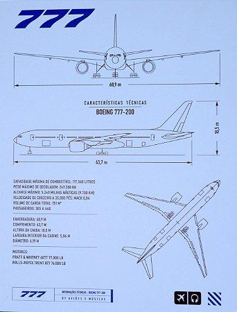 Pôster 777 Em PS 2mm Aviões e Músicas