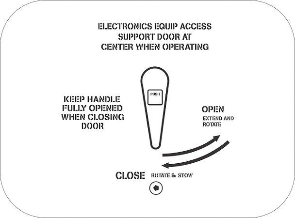 Adesivo Porta Centro Eletrônico - Aviões e Músicas