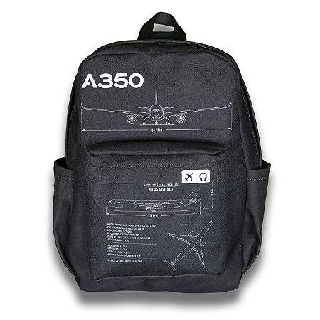 Mochila A350 Aviões e Músicas