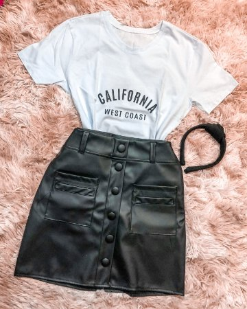 T-shirt Califórnia - Off White
