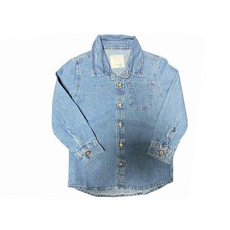 Camisa Masculina Jeans Infantil Malwee Kids