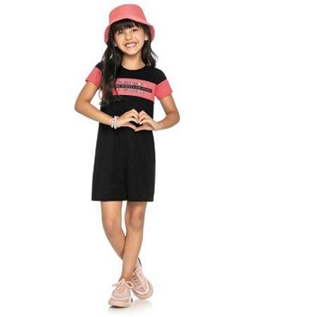 Vestido Infantil Ribana Canelada Kely & Kety
