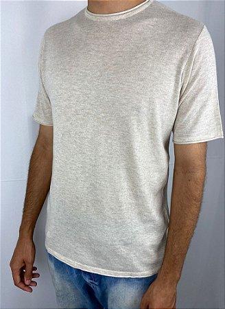 Camiseta Masculina Manga Curta Tricô  Algodão  Hering