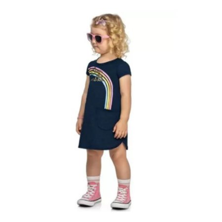 Vestido Moletinho Infantil Arco- Íris Kely  Kety