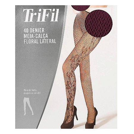 Meia Calça Floral Lateral X06054 Trifil