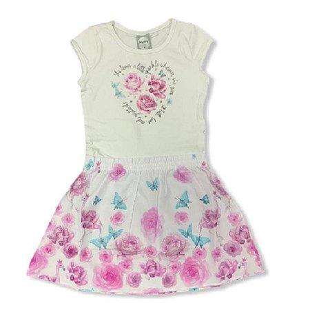 Vestido Infantil Feminino Florido 10150597 Kely & Kety