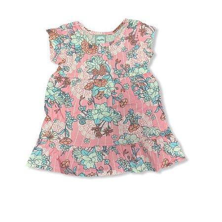Vestido Infantil Malha Flores 10150020 Kely & Kety