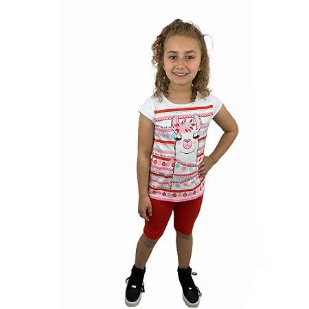 Conjunto Infantil Feminino  Lhama 11932137 Kely & Kety