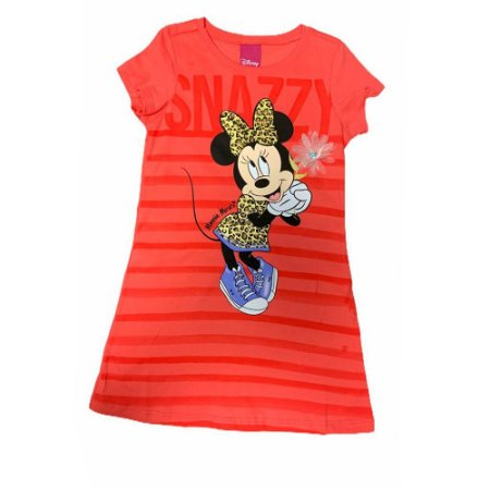 Vestido Manga Curta Listrado Minnie D80104 Disney