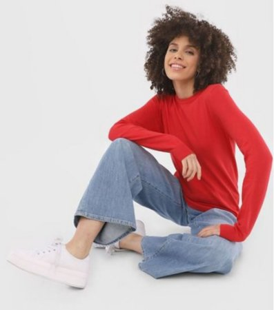 Suéter Tricot Liso Feminino 1000025956 Malwee