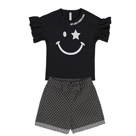 Conjunto de Blusa e Shorts Cativa