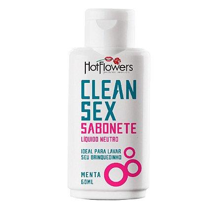 SABONETE LÍQUIDO PARA VIBRADORES CLEAN SEX MENTA
