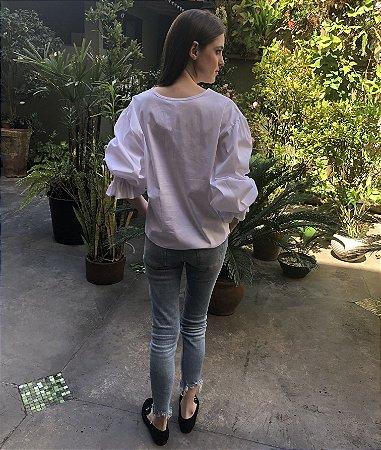 Blusa Elástico Punho - Branca