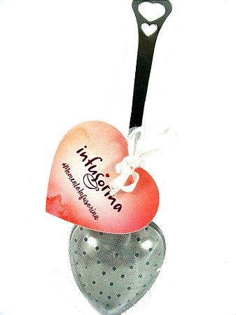 Infusor para Chá em coração  ♥ {3 cm}