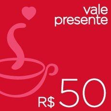 Vale-presente R$ 50