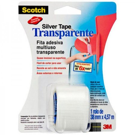 Silver Tape Transparente 3M