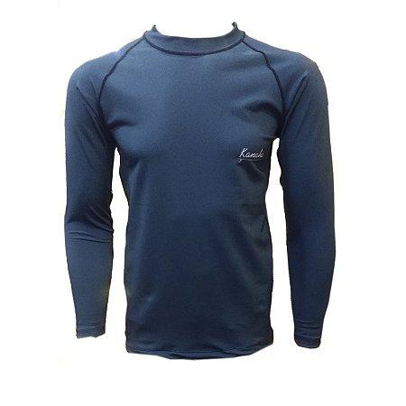 Camisa de Lycra Kanaha M/L Azul Petróleo