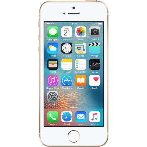 "iPhone SE 16GB Dourado Tela 4"" IOS 9 4G Câmera 12MP - Apple"