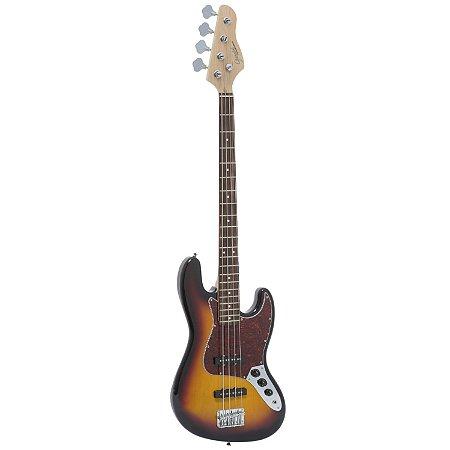 Contrabaixo Jazz Bass GB-1 Sunburst c/ escudo Tortoise - Giannini
