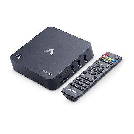 RECEPTOR SMART TV BOX 4K ANDROID STV-2000 AQUARIO