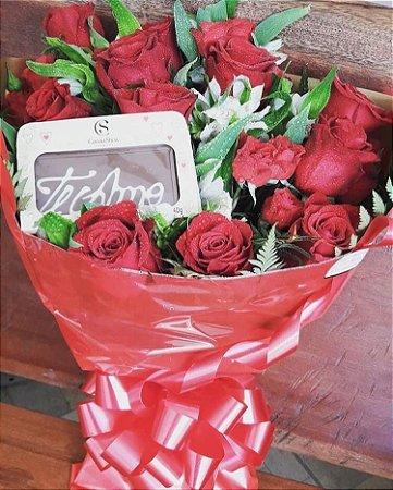 Buquê luxo com 24 Rosas