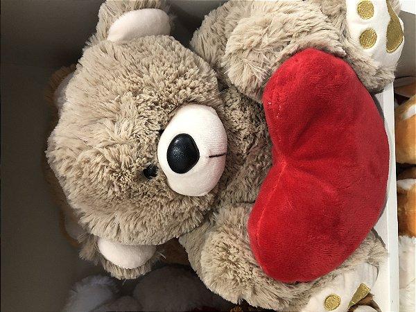urso Pelucia Caneca personalizada embalagem