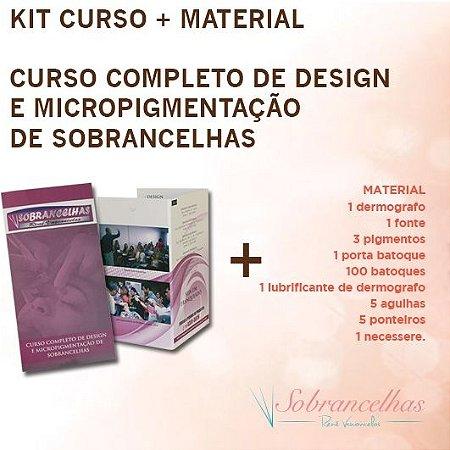 Kit de Micropigmentação de Sobrancelha + DVD Curso Micropigmentação