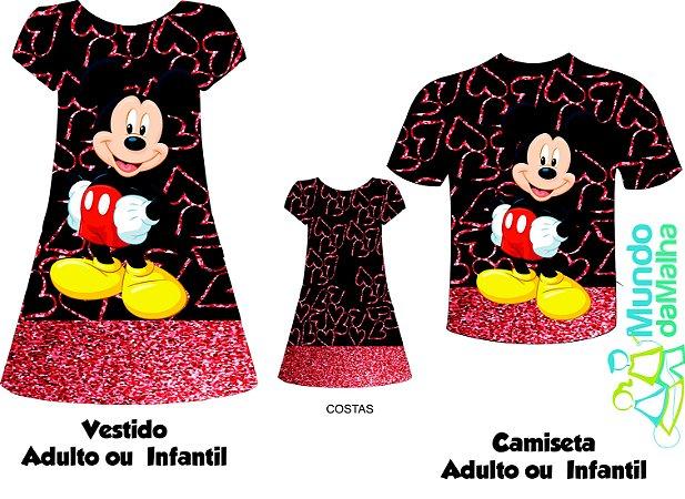 Kit Família Mickey e Minnie - Corações