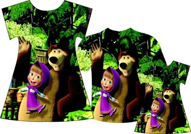 Kit Família Masha e o Urso