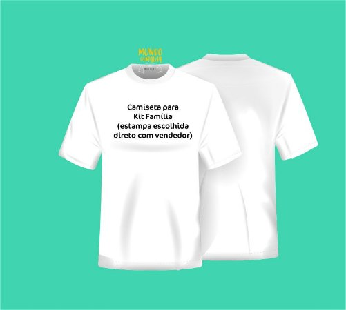 Camiseta Temática Avulsa - Adulto ou Infantil * Combine sua estampa com o vendedor