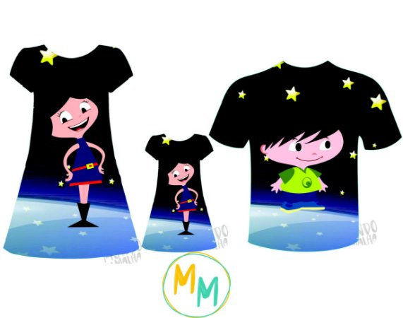 Kit Família Luna - Estrelado
