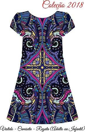 Vestido Estilo Negro - Étnico Violeta