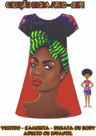 vestido Estilo Negro - Turbante Brasil