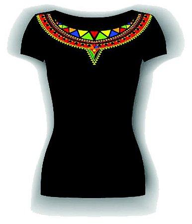 Blusa Detalhe Africano Black- Dona de Mim 2019