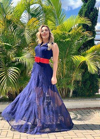 Vestido  Luxo Yolanda Azul
