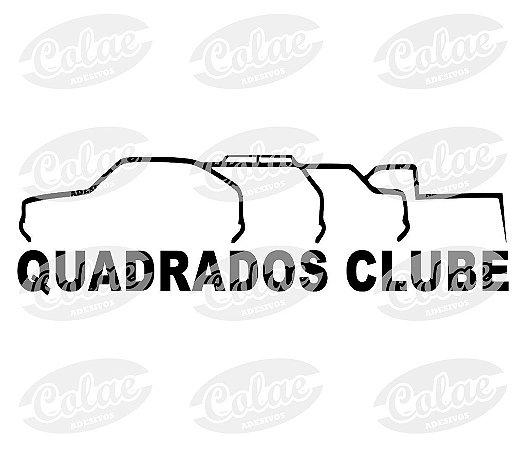 Quadrados Clube ( 13 x 3 cm )