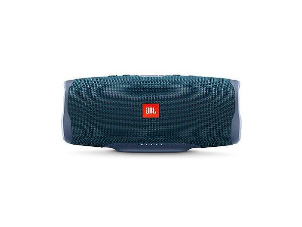 Caixa Bluetooth JBL CHARGE 4, Á Prova D'Água, Bluetooth, Autonomia para 20hs, JBL Connect+ Azul