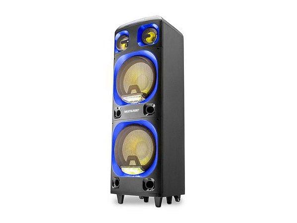 Caixa de Som Amplificada Multilaser 2000W Bluetooth SP343 Preto