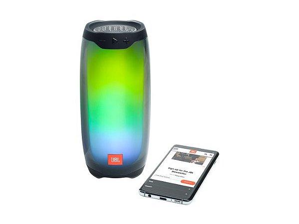 Caixa de Som Bluetooth JBL Pulse 4 IPX7, À Prova D'água, 20W de Potência