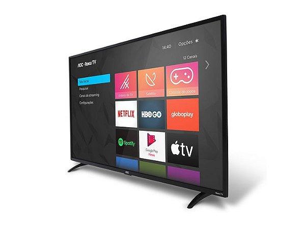 """Smart TV AOC 32"""" LED HD 32S5195/78 ROKU, HDMI, USB, Conexão Wi-Fi"""