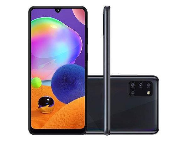 Smartphone Samsung Galaxy A31 A315 128GB, Dual Chip, Android 10.0, Processador Octa Core 2.0GHz, Câmera Traseira Quádrupla, Bateria 5000mAh Preto SM-A315GZKRZTO