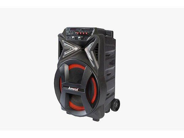 Caixa Amplificada Amvox ACA 400 Strondo Bluetooth, 400W de Potência, USB