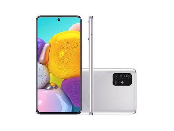 "Smartphone Samsung Galaxy A71, Android 10.0, Dual Chip, Câmera Quádrupla de 64MP+12MP+5MP+5MP, Frontal 32 MP, 6.7"", 128GB, RAM 6GB Cinza SM-A715FMSPZTO"
