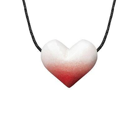 Colar Aromático Difusor Pessoal de Óleos Essenciais Coração